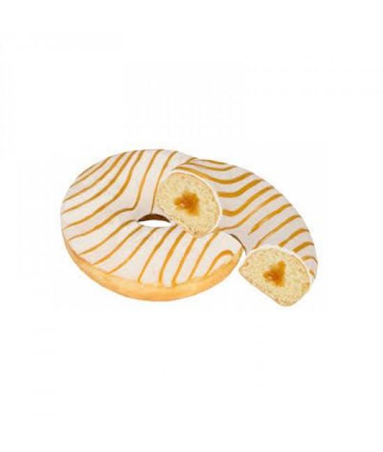Пончик в глазури и карамельной начинкой