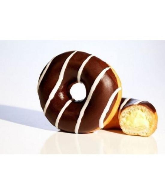 Пончик в глазури сшоколадной начинкой